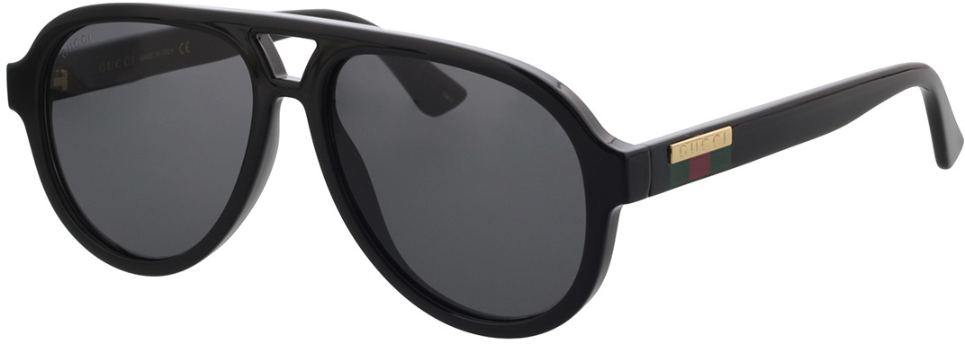 Picture of glasses model Gucci GG0767S-001 57-15 in angle 330