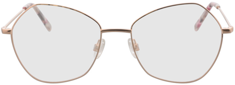 Picture of glasses model Comma, 70117 77 rose gold 55-18 in angle 0