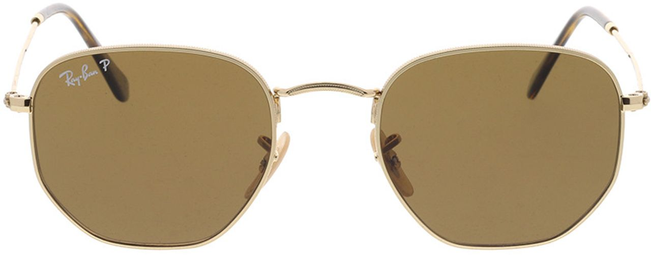 Picture of glasses model Ray-Ban Hexagonal Flat Lenses RB3548N 001/57 51-21 in angle 0
