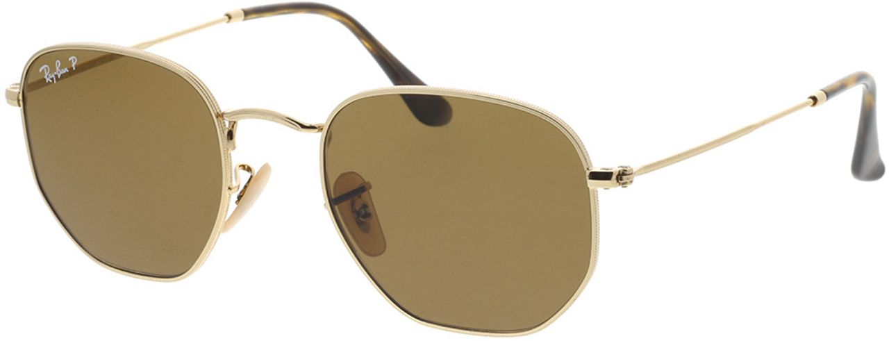 Picture of glasses model Ray-Ban Hexagonal Flat Lenses RB3548N 001/57 51-21 in angle 330