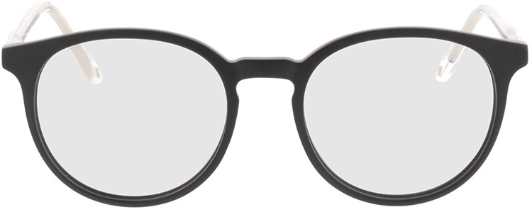 Picture of glasses model Ovis-matt schwarz in angle 0