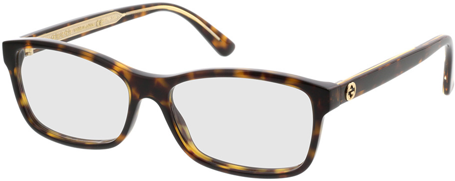 Picture of glasses model Gucci GG0316O-002 54-15 in angle 330