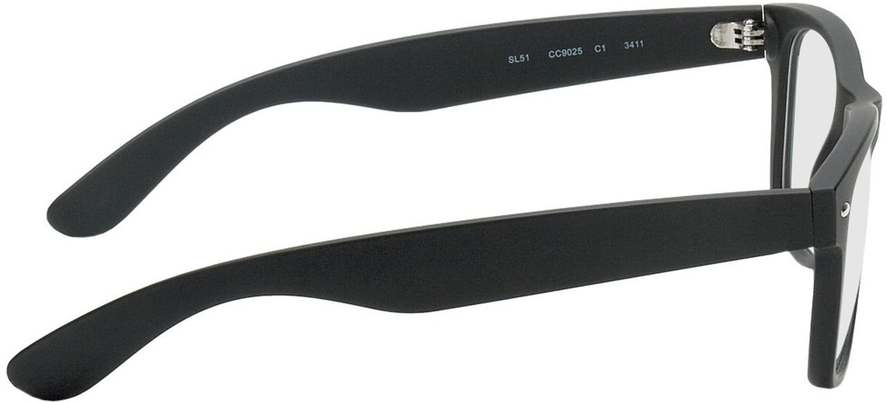 Picture of glasses model Parma black in angle 90