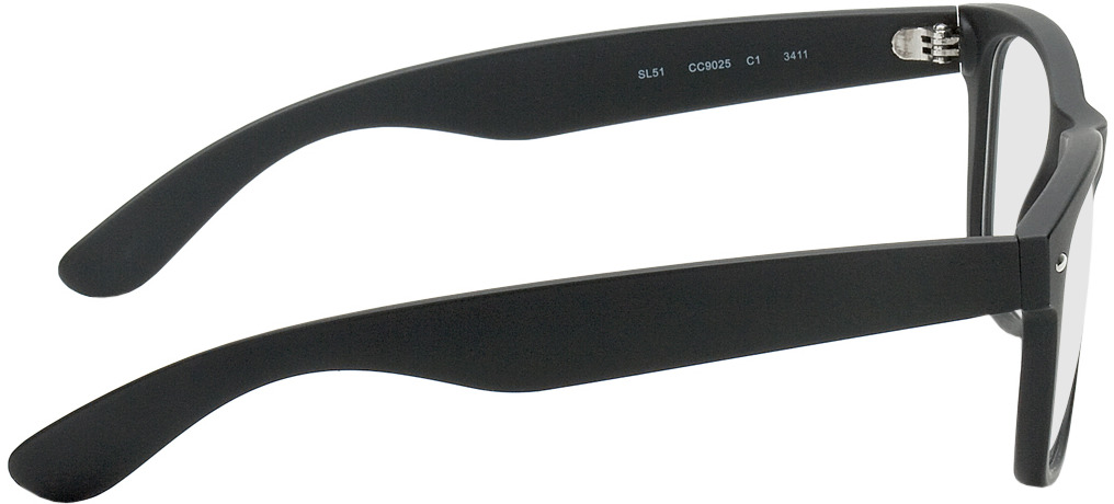 Picture of glasses model Parma noir in angle 90