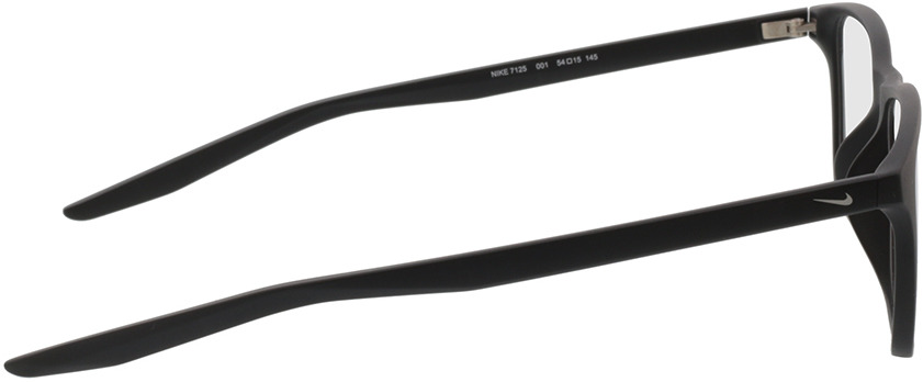 Picture of glasses model Nike 7125 001 54-15 in angle 90