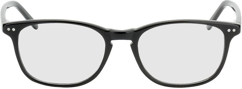 Picture of glasses model Avignon-schwarz in angle 0