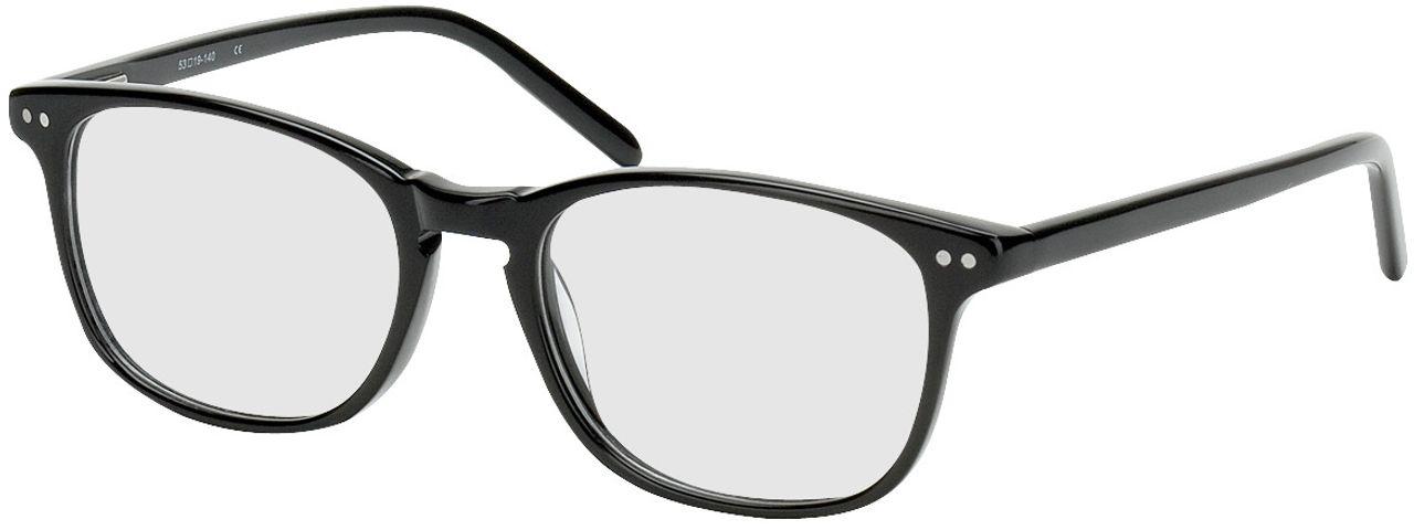 Picture of glasses model Avignon black in angle 330