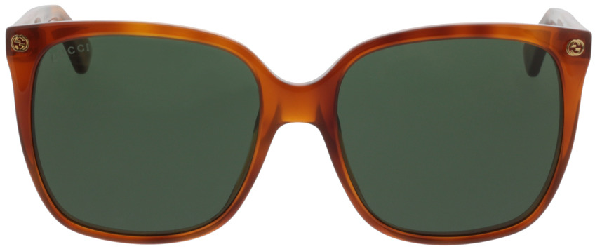 Picture of glasses model Gucci GG0022S-002 57-18 in angle 0