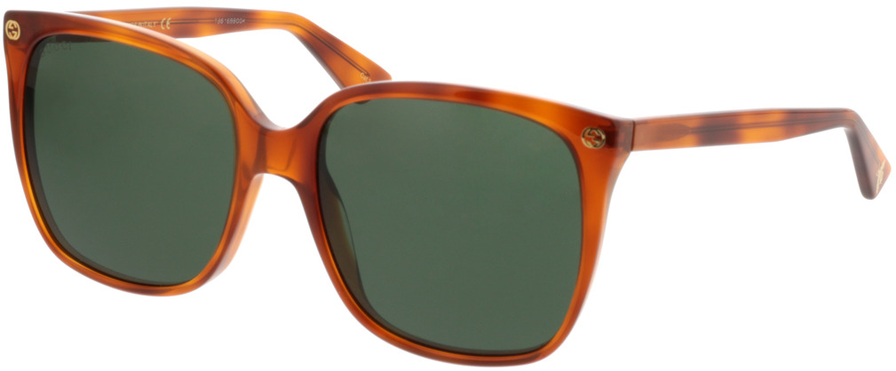 Picture of glasses model Gucci GG0022S-002 57-18 in angle 330