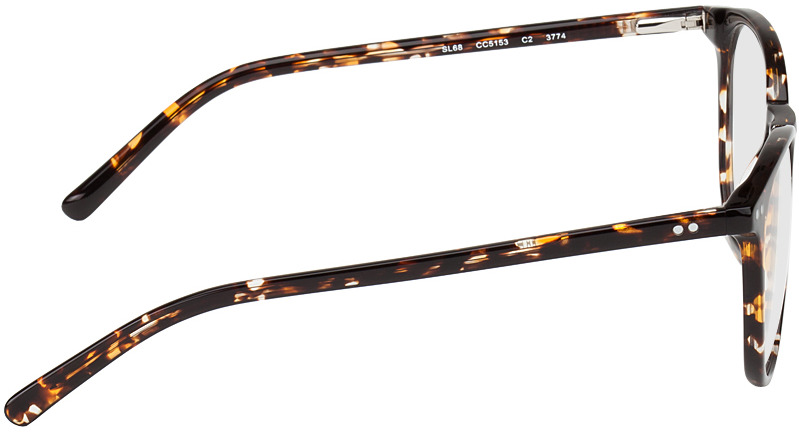 Picture of glasses model Athen-braun-gelb-meliert in angle 90