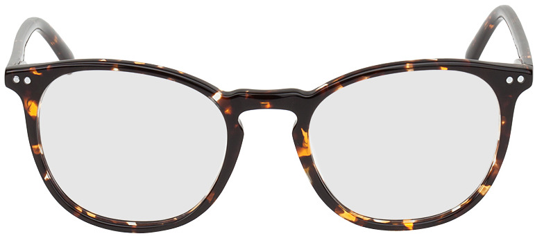 Picture of glasses model Athen-braun-gelb-meliert in angle 0
