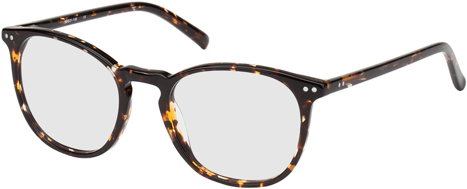 Picture of glasses model Athen-braun-gelb-meliert in angle 330