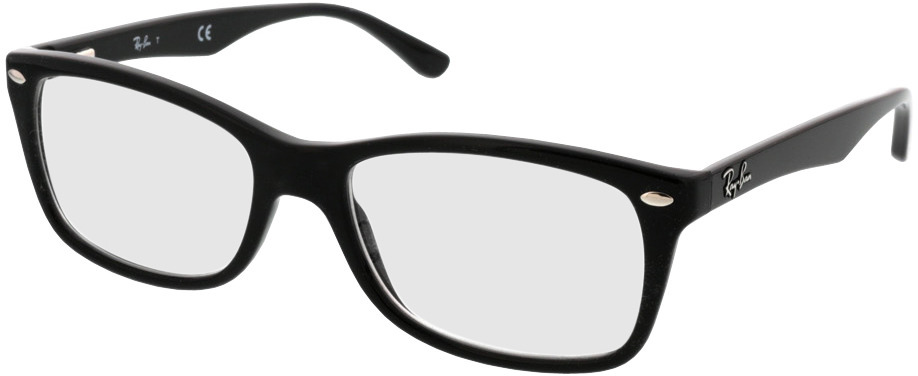 Picture of glasses model Ray-Ban RX5228 2000 53-17 in angle 330