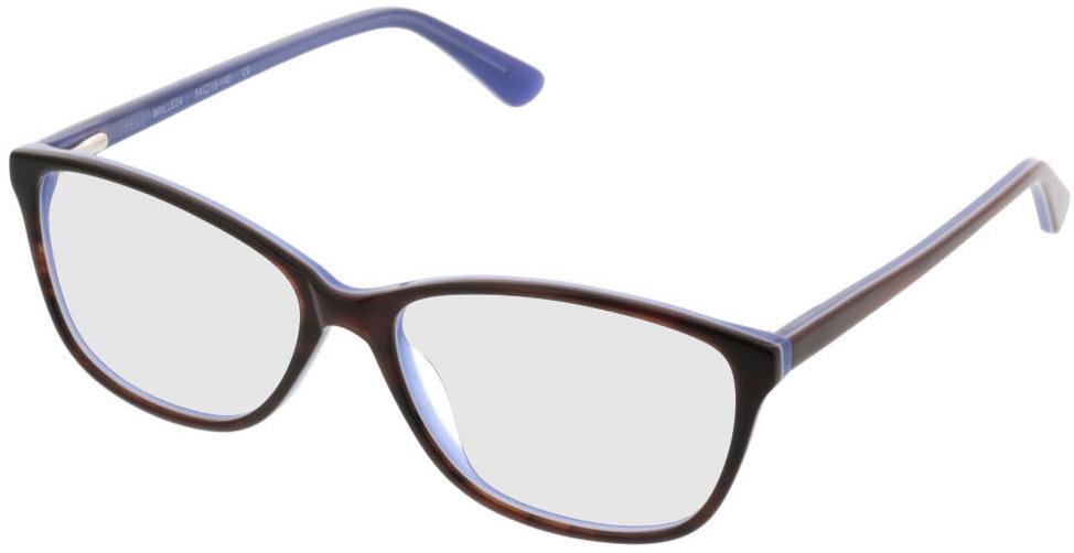 Picture of glasses model Patna-brun/lila in angle 330