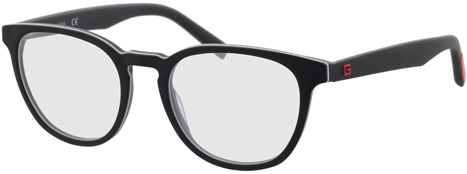 Picture of glasses model Guess GU50033 005 51-19 in angle 330
