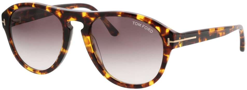 Picture of glasses model Tom Ford FT0677 52T in angle 330