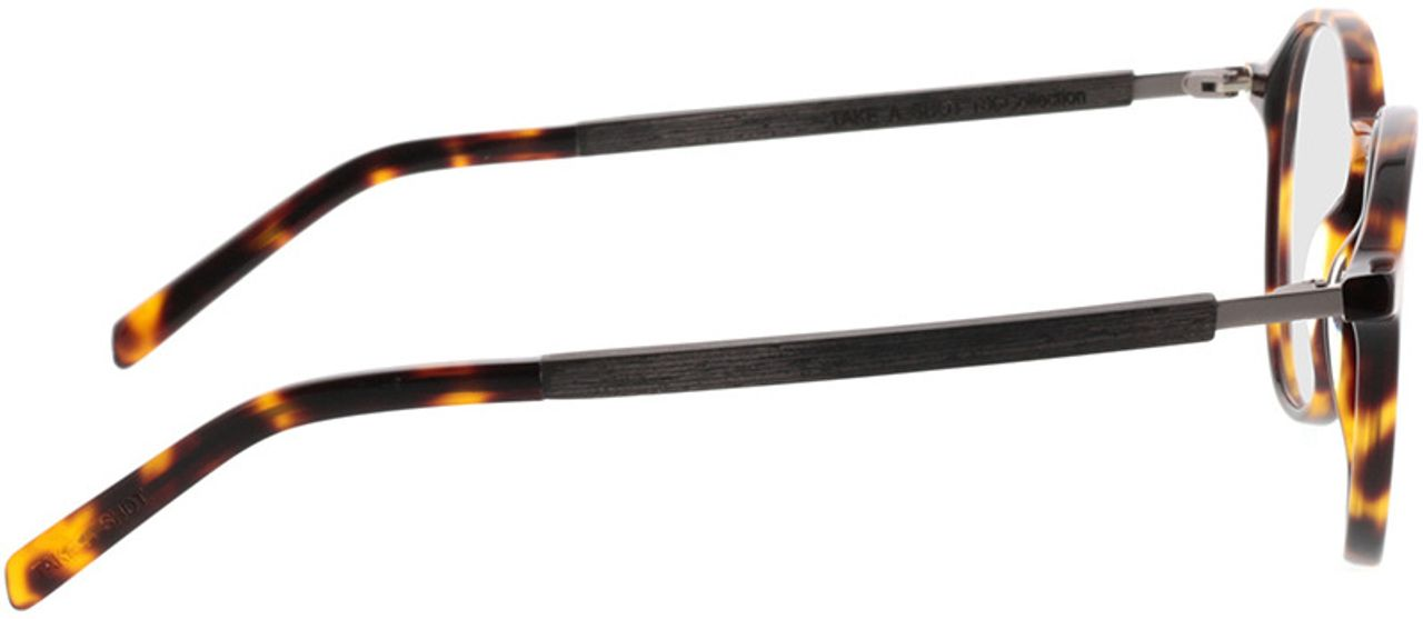 Picture of glasses model TAKE A SHOT Thisa Tortoise RX: Schwarzes Eichenholz 48-21 in angle 90