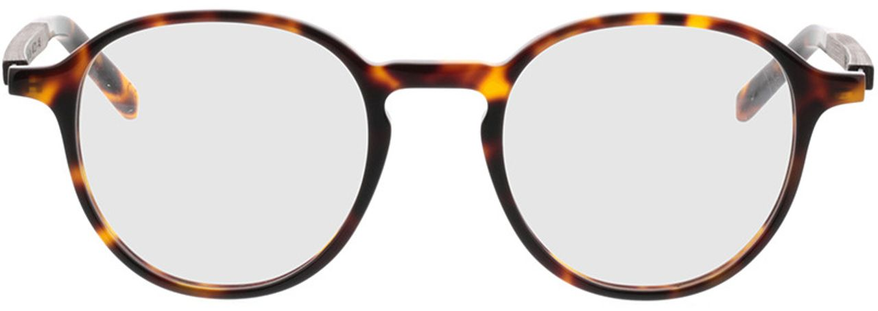 Picture of glasses model TAKE A SHOT Thisa Tortoise RX: Schwarzes Eichenholz 48-21 in angle 0