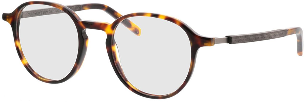 Picture of glasses model TAKE A SHOT Thisa Tortoise RX: Schwarzes Eichenholz 48-21 in angle 330