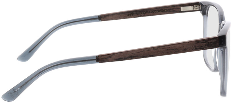 Picture of glasses model TAKE A SHOT Lenus Slate Crystal RX: Walnussholz 54-19 in angle 90