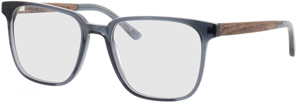 Picture of glasses model TAKE A SHOT Lenus Slate Crystal RX: Walnussholz 54-19 in angle 330