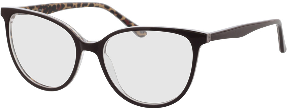 Picture of glasses model Kimba-schwarz/leopard in angle 330