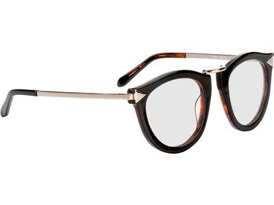 Brille Lancaster-schwarzbraun meliert/gold