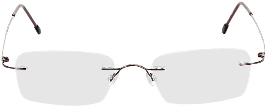 Picture of glasses model Davos-braun in angle 0