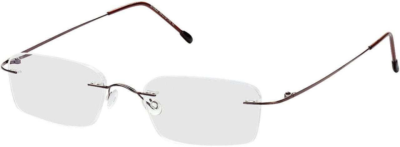 Picture of glasses model Davos-braun in angle 330