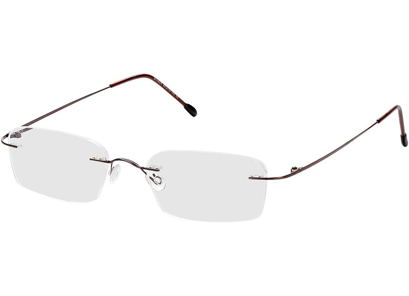 1375-singlevision-0000 Davos-braun Gleitsichtbrille, Randlos, Rechteckig Brille24 Collection