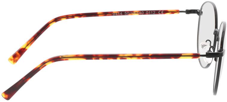Picture of glasses model Utrecht-schwarz/havana in angle 90