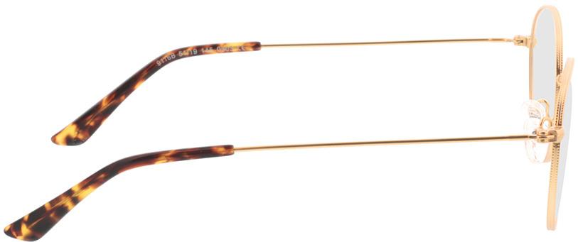 Picture of glasses model Zanna-matt gold in angle 90
