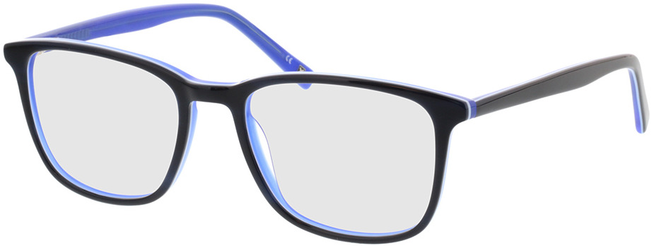 Picture of glasses model Colby-dunkelblau/weiß/blau in angle 330