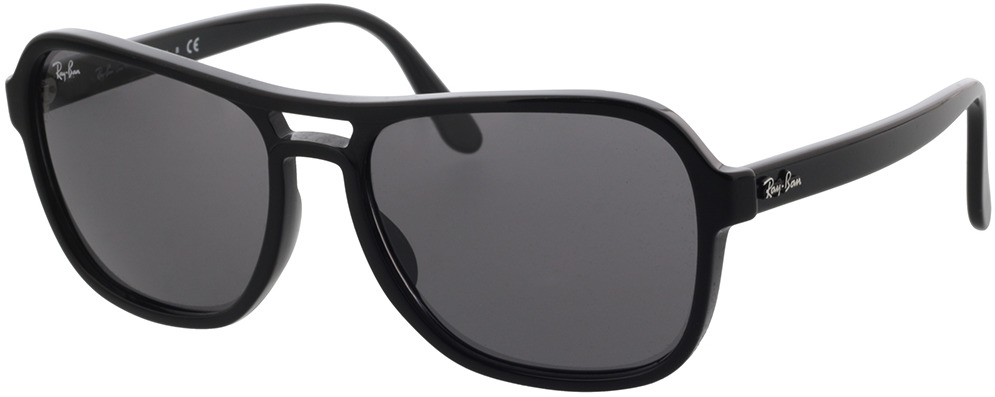 Picture of glasses model Ray-Ban RB4356 601/B1 58-17 in angle 330