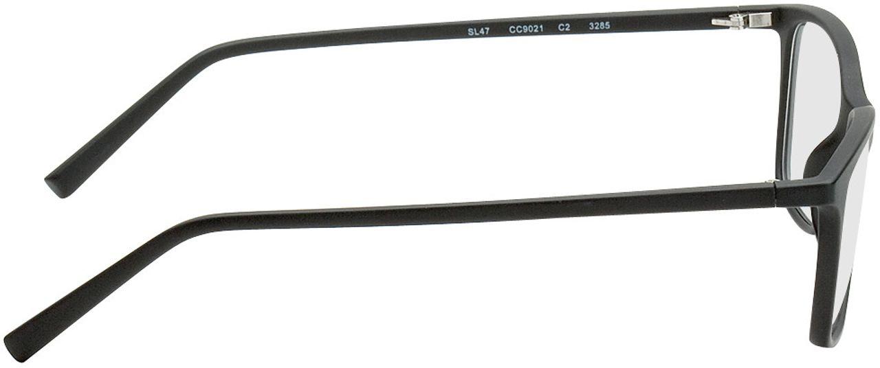 Picture of glasses model Bergama-schwarz in angle 90