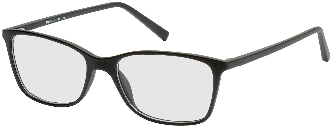 Picture of glasses model Bergama noir in angle 330