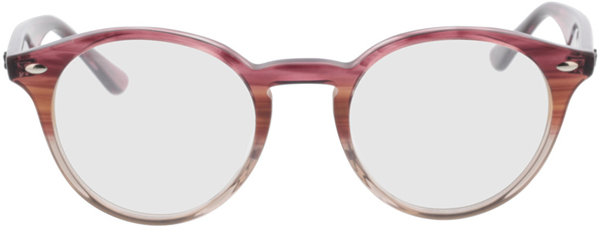 Picture of glasses model Ray-Ban RX2180V 8145 49-21 in angle 0