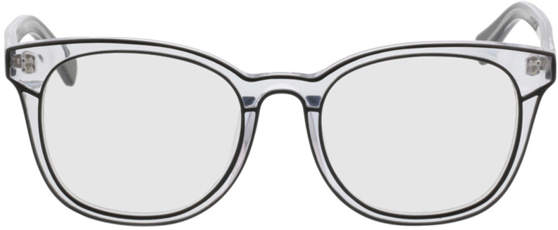Picture of glasses model Nuoro black/transparent in angle 0
