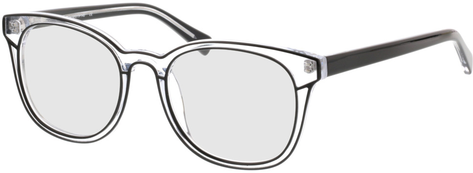 Picture of glasses model Nuoro black/transparent in angle 330