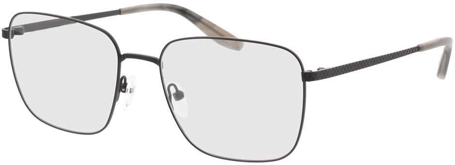 Picture of glasses model Helios Zwart/grijs-horn in angle 330