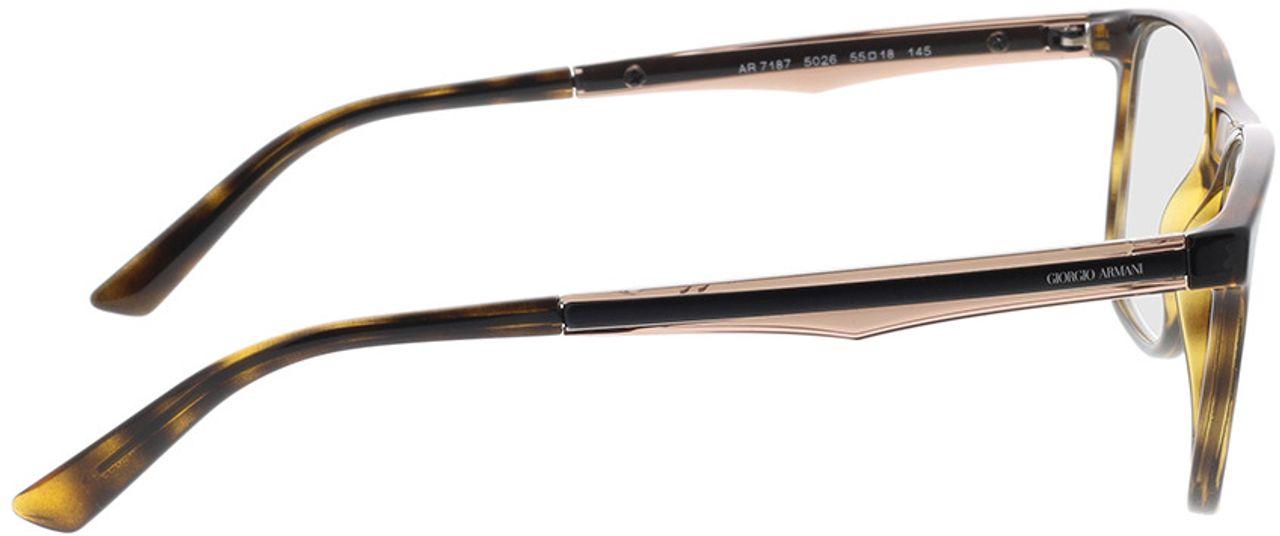 Picture of glasses model Giorgio Armani AR7187 5026 55-18 in angle 90