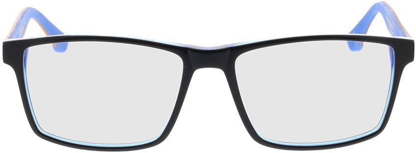 Picture of glasses model Superdry SDO Inca 189 preto/azul/castanho madeira 56-16 in angle 0