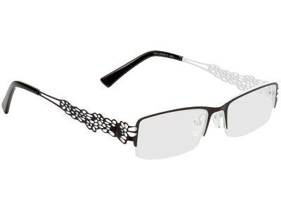 Brille Lohja-schwarz-weiß/schwarz
