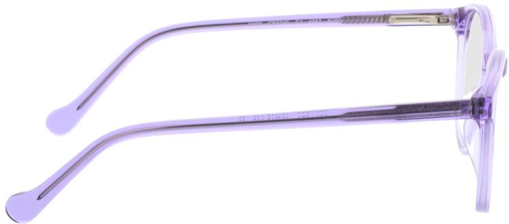 Picture of glasses model Bursa roxo in angle 90