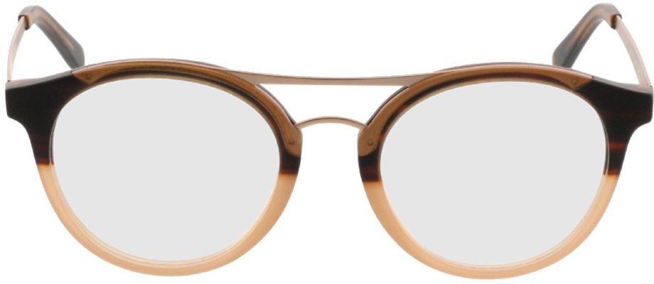 Picture of glasses model Comma70028 60 braun 48-19 in angle 0