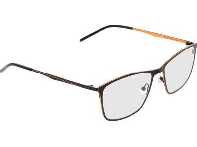 Brille Quebec-schwarz/orange