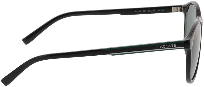 Picture of glasses model Lacoste L916S 001 50-21 in angle 90