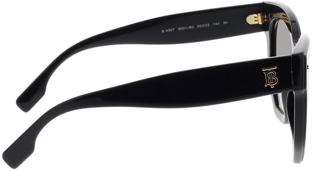 Picture of glasses model Burberry BE4307 30018G 50-22 in angle 90