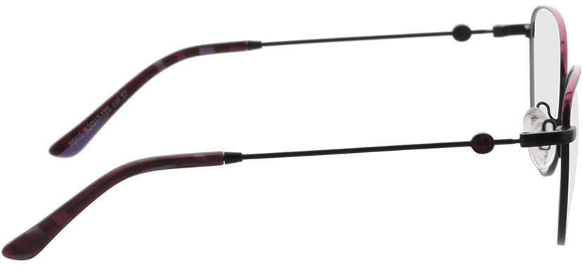 Picture of glasses model Comma, 70115 37 rosegold 52-17 in angle 90