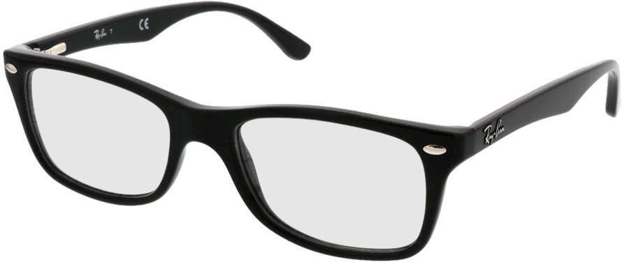 Picture of glasses model Ray-Ban RX5228 2000 50-17 in angle 330